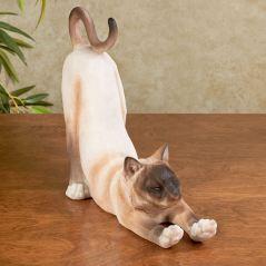 Sox Tawny Stretching Cat Sculpture