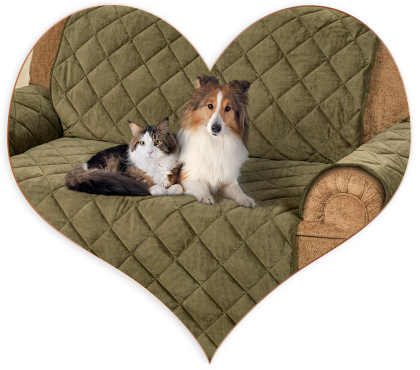 Pets on pet furniture cover