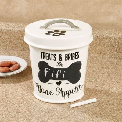 Chalkboard Personalized Dog Treat Jar