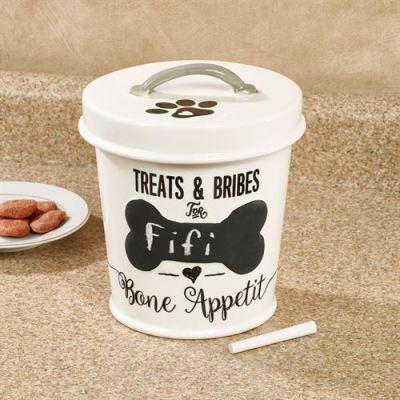 Chalkboard Personalized Dog Treat Jar