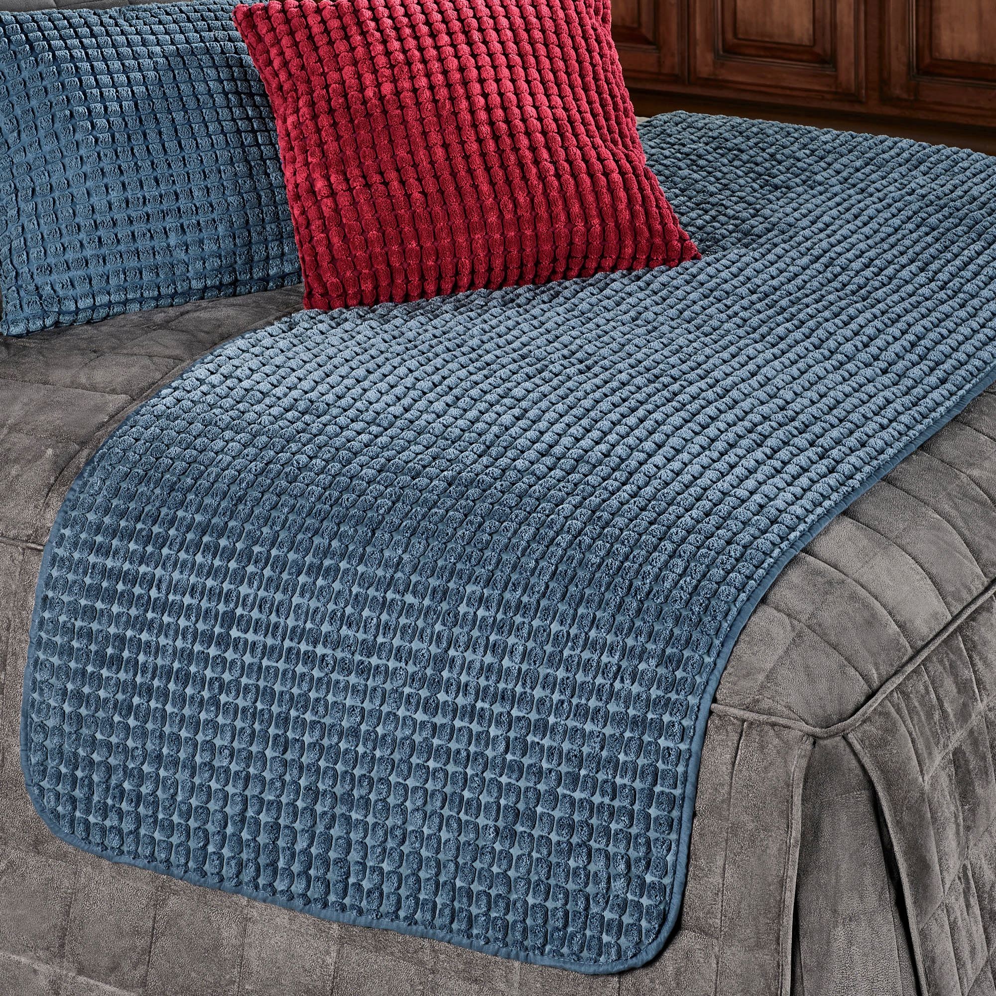 Premier Puff Pet Bed Protector in Blue