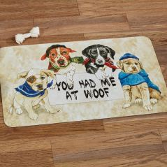 You Had Me at Woof Pet Food Bowl Mat