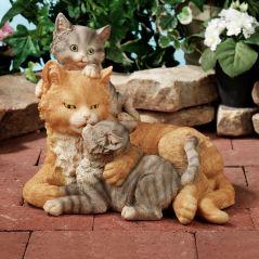 Kisses of Love Cat Sculpture