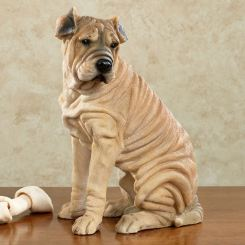 Chinese Shar-Pei Dog Sculpture
