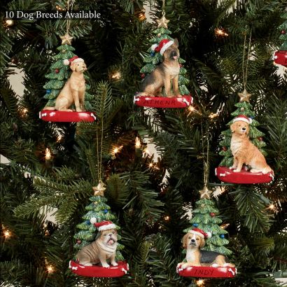 Christmas Dog Personalized Ornaments