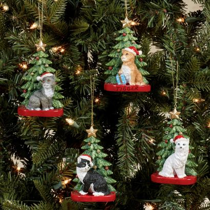Christmas Cat Personalized Ornaments