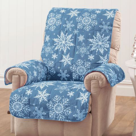 Blue Snowflake Holiday Furniture Protectors
