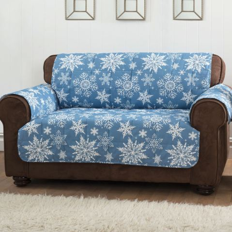Blue Snowflake Holiday Furniture Covers