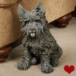 Oliver Cairn Terrier Dog Sculpture