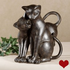 Purrfect Love Cat Sculpture