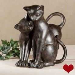 Purrfect Love Cat Sculpture