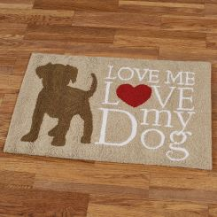 Love My Dog Accent Rug
