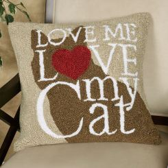 Love My Cat Decorative Pillow