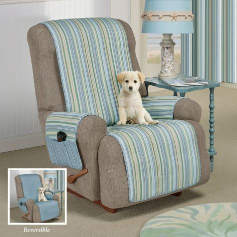 Clearwater Reversible Striped Furniture Covers