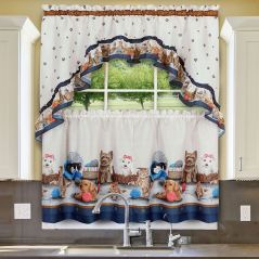 Playtime Pet-Themed Tier Window Treatment Set