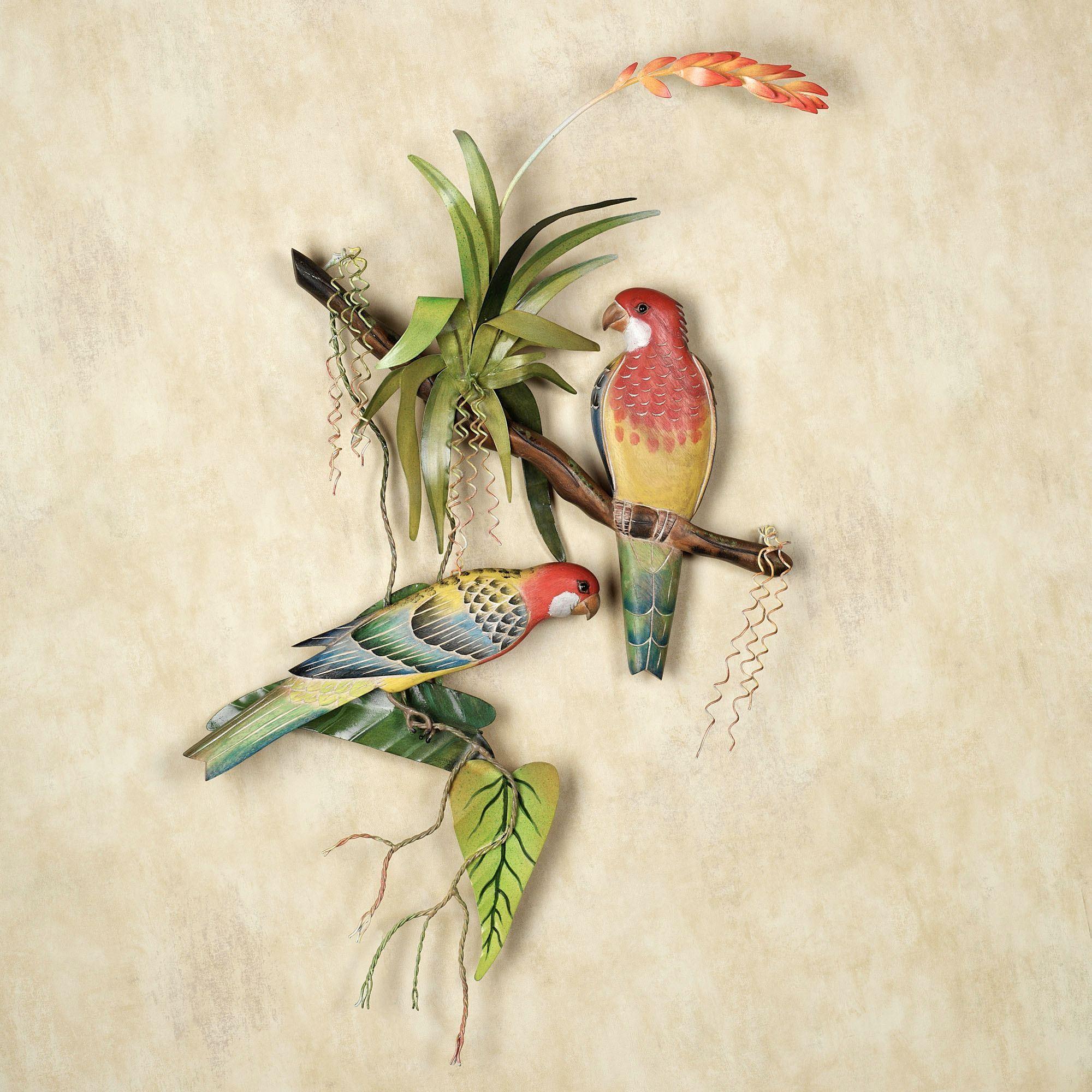Rosellas Tropical Bird Wall Sculpture