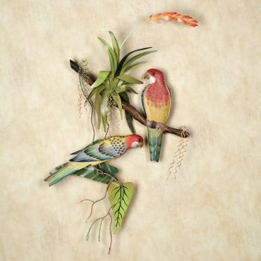 Rosellas Tropical Bird Wall Sculpture