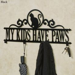 Occasions Cat Personalized Metal Wall Hook Rack