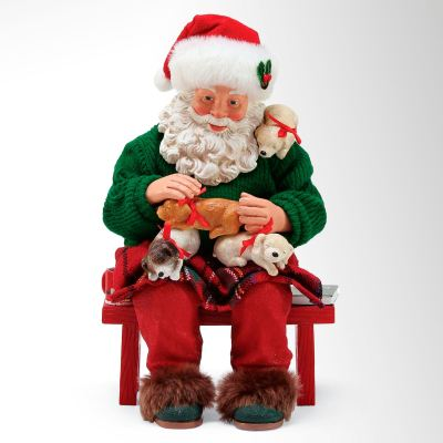 A Long Winter's Nap Clothtique Santa Figurine