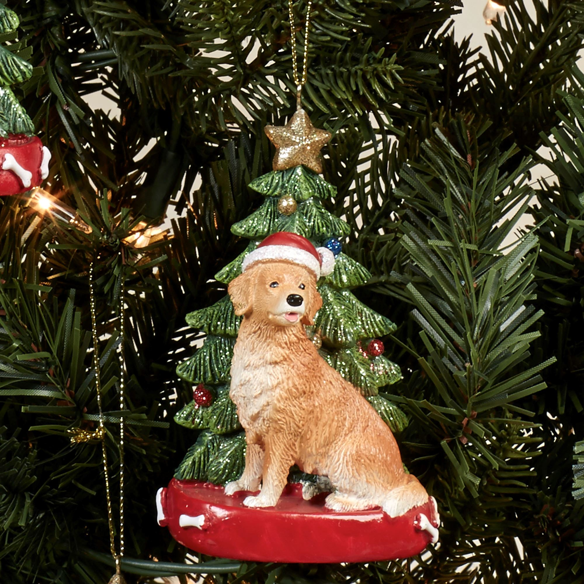 Golden Retriever Dog Christmas Ornament
