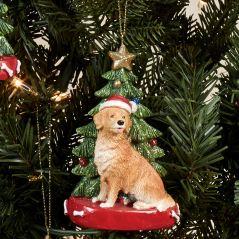 Golden Retriever Dog Christmas Ornament