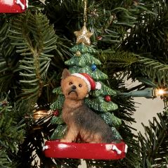 Yorkshire Terrier Dog Christmas Ornament