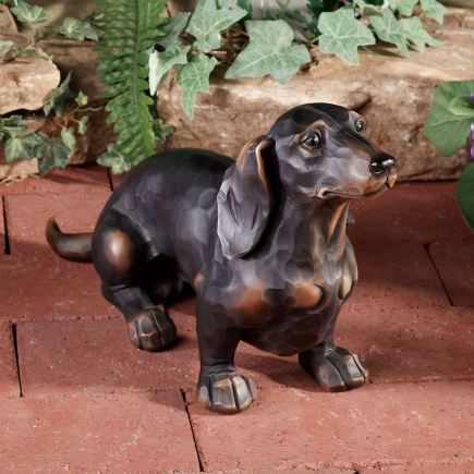 Morning Walk Dachshund Dog Sculpture