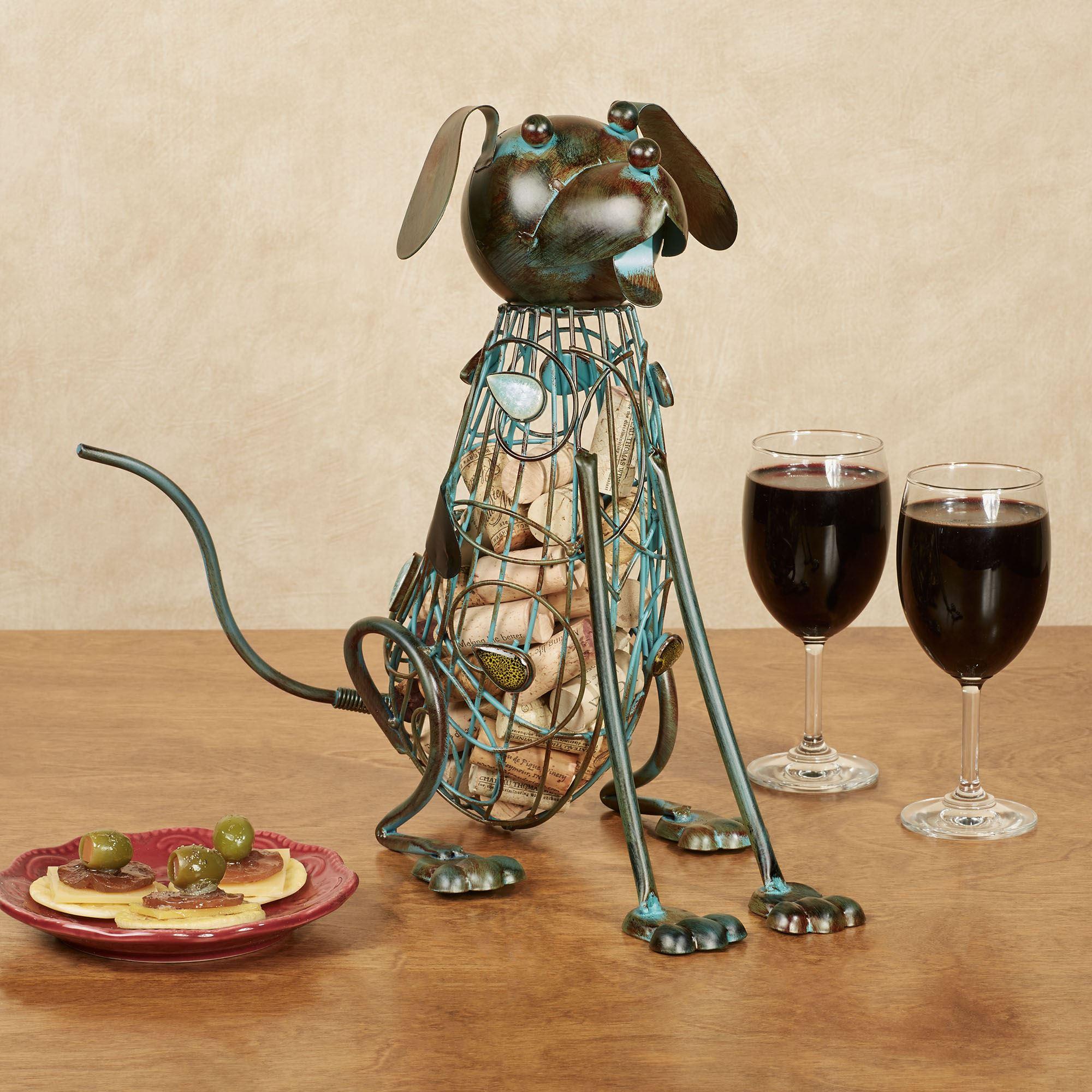Dog Wine Cork Caddy