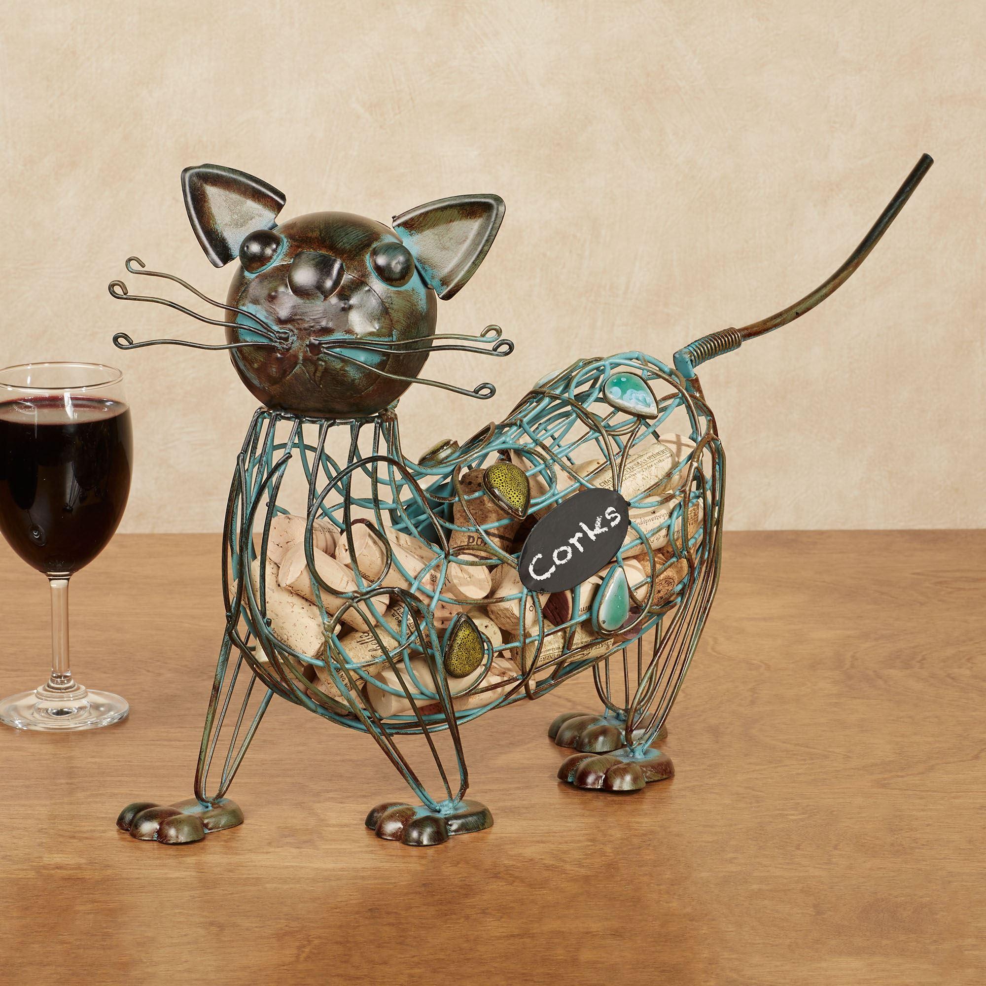 Cat Wine Cork Caddy