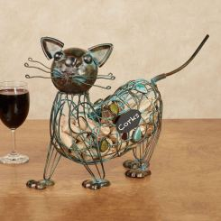 Cat Wine Cork Caddy
