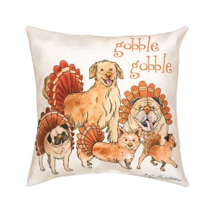 The Gobblers Thanksgiving Dogs Pillow