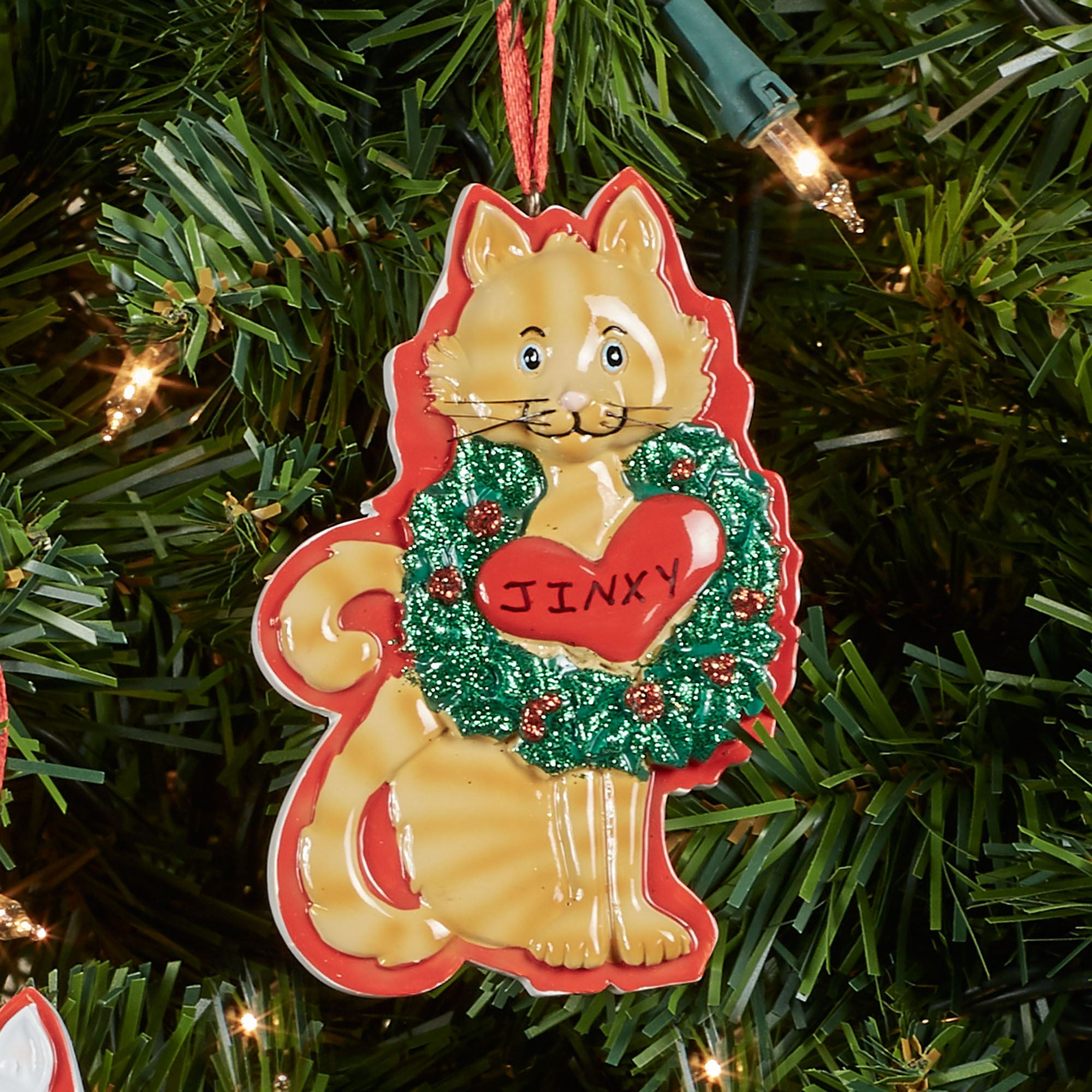 Kurt Adler Holiday Cat Ornament