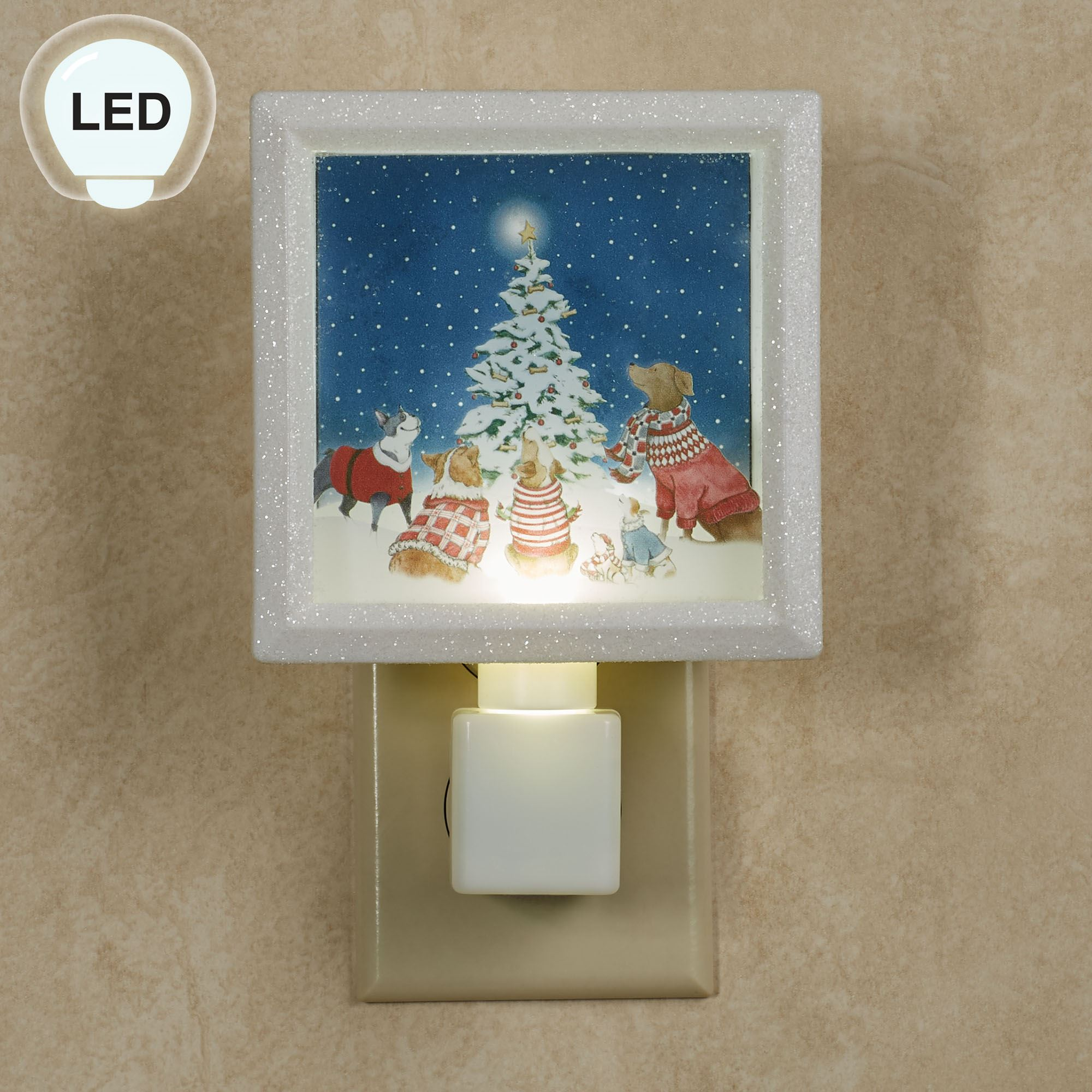 Dogs Around Tree LED Nightlight