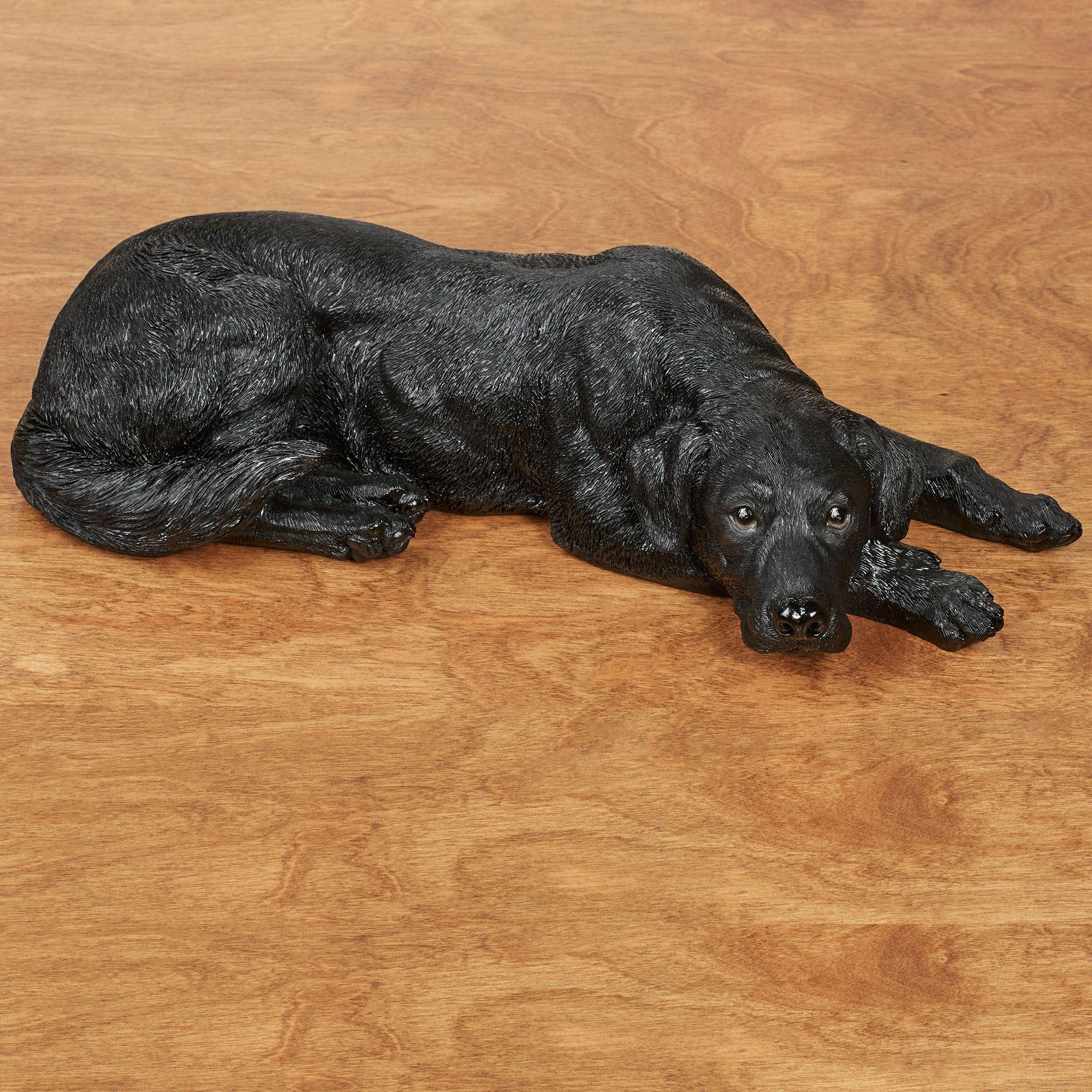 Lovable Black Labrador Dog Sculpture