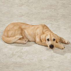 Lovable Yellow Labrador Dog Sculpture