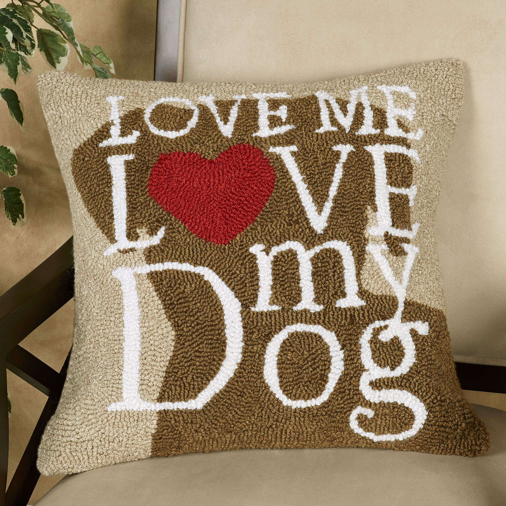 Dog Love Decorative Pillow