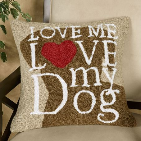 Dog Love Decorative Pillow