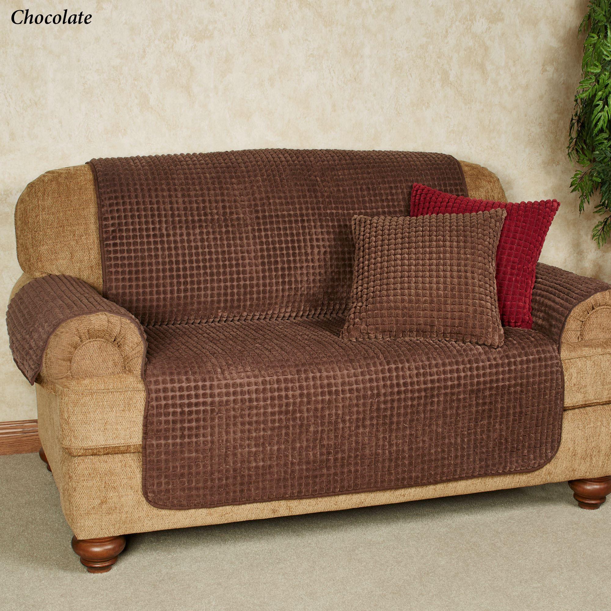 Premier Puff Furniture Cover in Chocolate