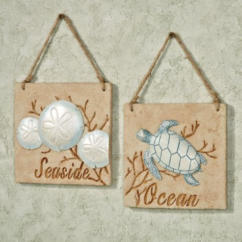 Seaside Ocean Wall Plaque Set
