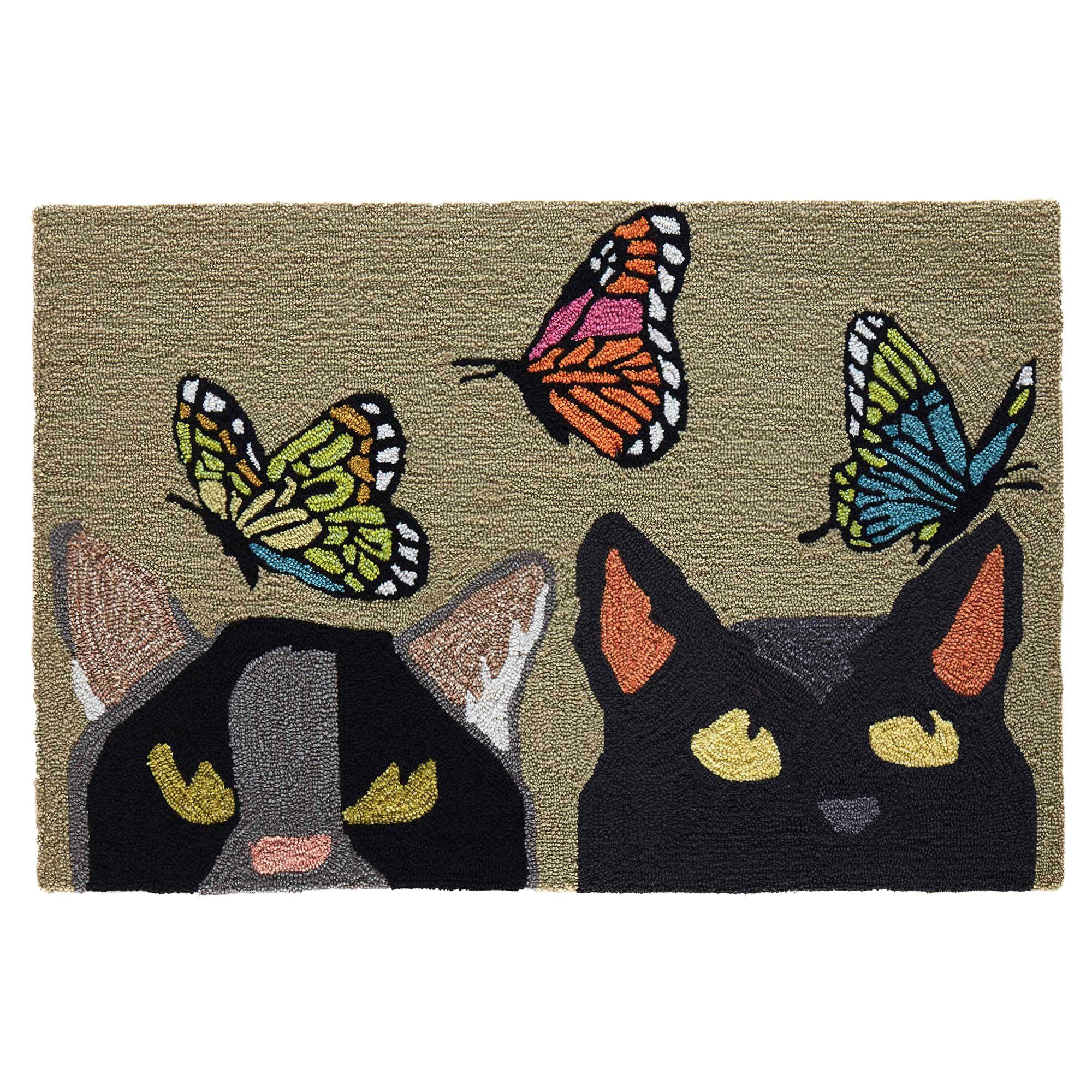Cats and Butterflies Mat