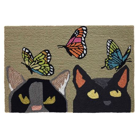 Cats and Butterflies Mat