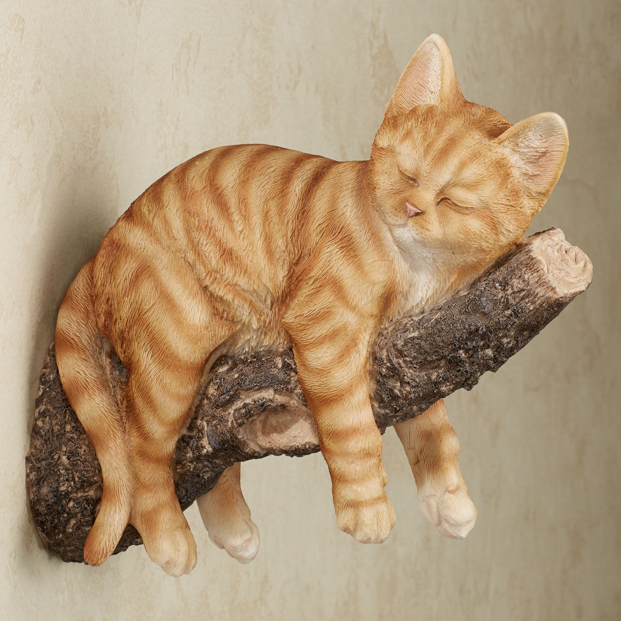 Catnap Striped Orange Sleeping Kitten Wall Accent