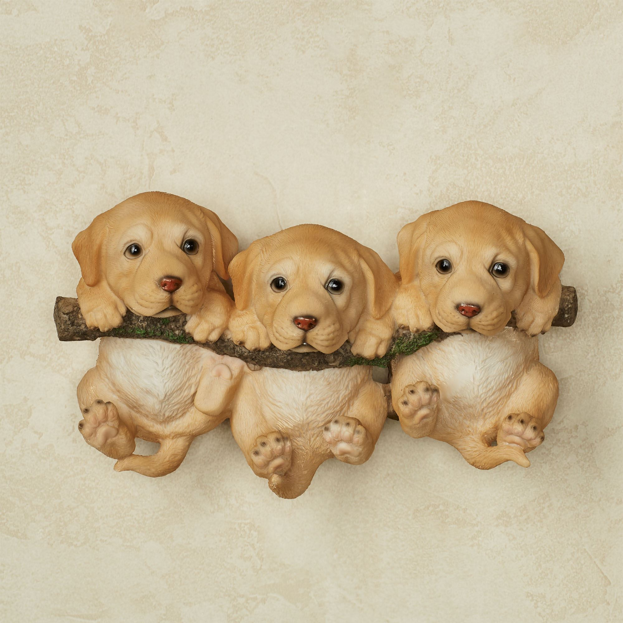 Trio of Labrador Puppies Dog Wall Accent