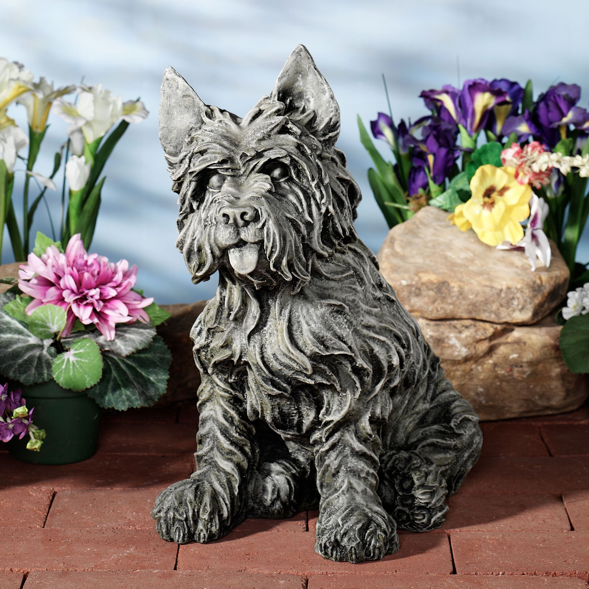 Oliver Cairn Terrier Dog Sculpture